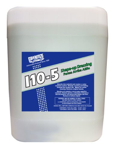TR Industries - I-10/5 Granitize I-10 Auto Shape Up Rubber-Plastic-Vinyl Dressing - 5 Gallon