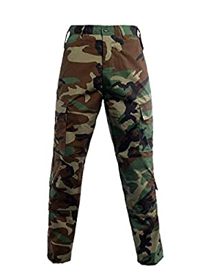 LANBAOSI Men Tactical Combat Pants Multicam Military Lightweight Cargo Pants Outdoor Airsoft Hunting ACU Camo Trousers