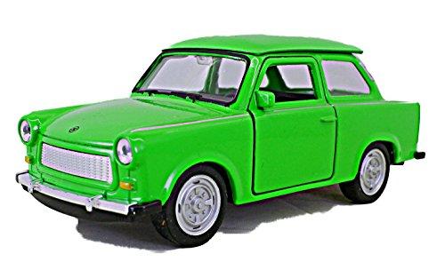 Schaepers Kaleidoskope Trabi 601 - Maqueta de coche (1:36, 11 cm, 3 colores, turquesa, verde, blanco, selección aleatoria)