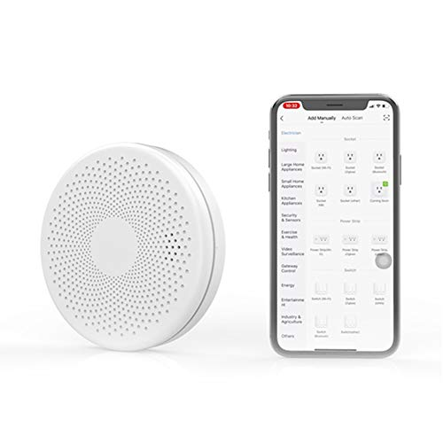 Alarme combinado de fumaça e monóxido de carbono, sensor de fumaça Wi-Fi inteligente, detector de monóxido de carbono, alta sensibilidade, baixo consumo de energia