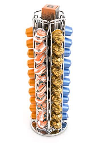 Peak Café Porte-Capsules Rotatif Compatible avec Nespresso - Capacité de 70 Capsules