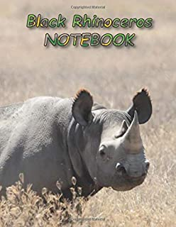 Black Rhinoceros NOTEBOOK: notebooks and journals 110 pages (8.5
