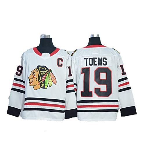 Yajun Jonathan Toews #19 Chicago Blackhawks Eishockey Trikots Jersey NHL Herren Sweatshirts Damen T-Shirt Bekleidung,White,M