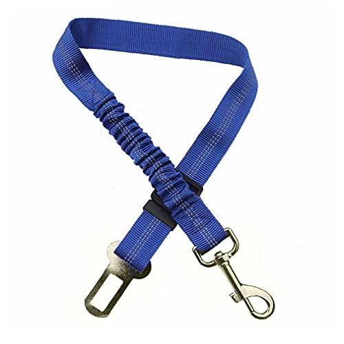 TongICheng Asiento Perro De La Correa Retráctil Perro Coche Cinturones De Seguridad del Asiento Ajustable para Mascotas con Correa De Antichoque Elástico Amortiguador Auxiliar Buffer (Azul)