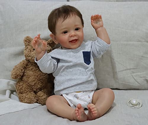 Pinky Reborn Reborn Poupée Bébé 24 Pouces 60cm Silicone Souple Vinyle Vrai Vie Réaliste Fait Main Fille Jouets Cadeaux d'anniversaire