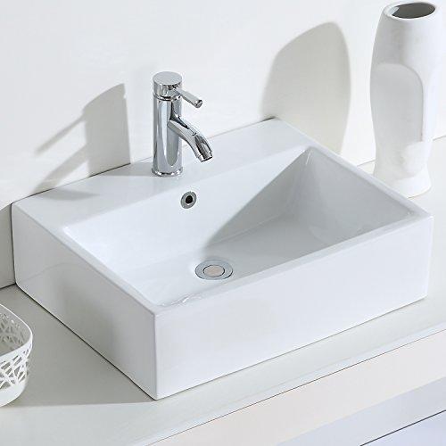 Eridanus, Serie Monterosso, Waschbecken Rechteckig, Kermaik Wandwaschbecken, Aufsatz Waschbecken, 54 cm
