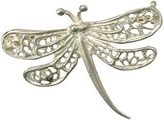 J R Jewellery Broche de Libélula Plata Maciza Hecho a Mano A Orden Británico Contraste en Caja