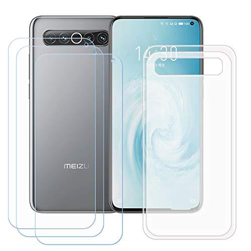 TTJ Durchscheinend Hülle für Meizu 17 Pro + [3 Stück] HD Panzerglas, Handyhülle Silikon Schutzhülle Cover TPU Case Handytasche - Panzerglasfolie Schutzfolie für Meizu 17 Pro (6,6