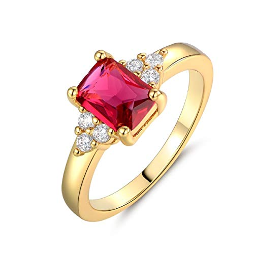 888 Easy Shop Perfect 24k Yellow Gold Filled Red Ruby Gemstone Promise Diamond Rings (8)