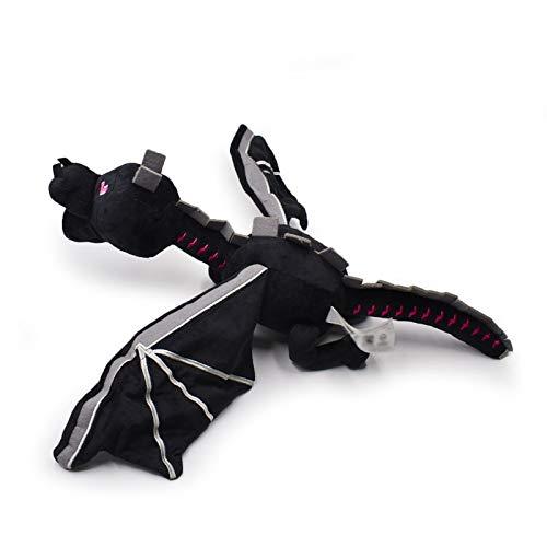 Juguete de Peluche 60cm Dragon Ender Plush Toy Doll Cool Black Dragon Peluche de Peluche Soft Stuffed Plush Kids Regalo de cumpleaños Decoración navideña