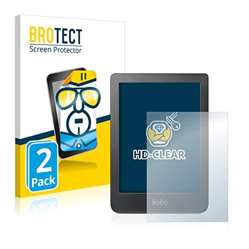 BROTECT 2x Schermbeschermer compatibel met Kobo Clara HD (6″) Screen protector transparant