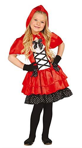 Fiestas Guirca Costume Cappuccetto Rosso e Pois Neri Bambina Taglia 7-9 Anni