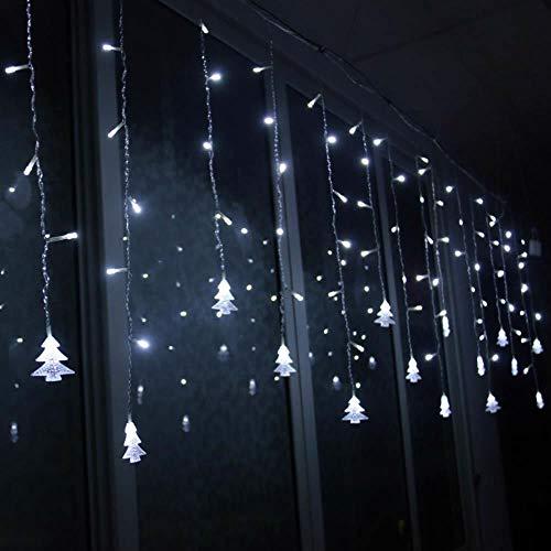 216 LED Lichterkette 5M Eiszapfen Licht Weihnachtsschnur Weihnachtsbaum Lichternetz Farbe Fee Lichterketten Xmas Micro Warmweiß Batteriebetrieb Weihnachtsbeleuchtung Gelb Weiß Blau