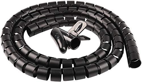 Kabelschlauch Kabelspirale 20mm x 3M Flexibles Spiralschlauch Kabelkanal Kabelmanagement System Kabel Organizer Kürzbar Kabelhülle von Kabeln bei PC, Computer, TV, Heimkino, HIFI-Anlage