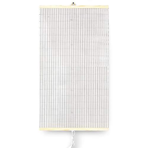Trio Infrarotheizung Thermostat Bildheizung Heizpaneel Infrarot Heizkörper 430W Elektro Heizung Transparent 100x57cm