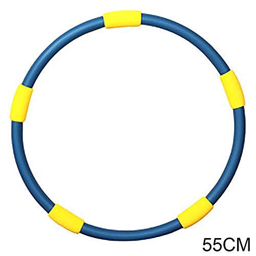HUI JIN Aros de Hula Hoops para niños divertidos juegos de actividades adultos ejercicio aros deportivos buena aptitud sólida 55 cm