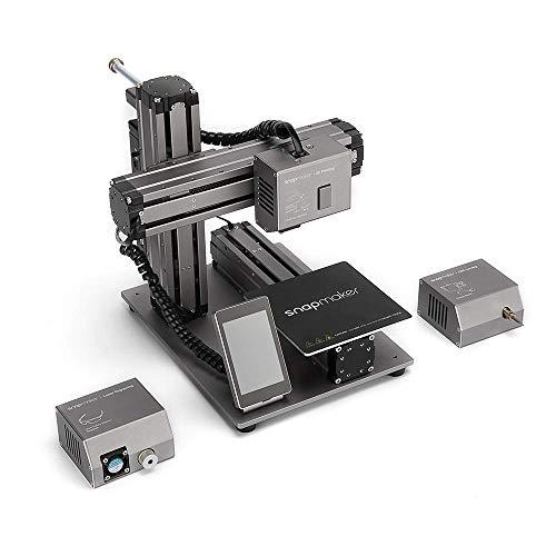 snapmaker 3-en-1 – Impresora 3D multifunción + Caja de protección – Empieza tu Viaje Maker con snapmaker Aluminio, 335 x 289 x 272