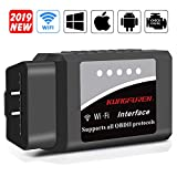 kungfuren OBD2 Diagnosegerät, Auto WiFi Diagnose OBD Stecker Kompatibel mit iOS, Android &...
