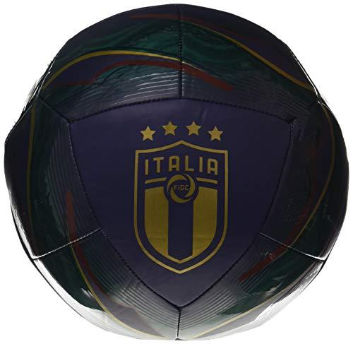 PUMA FIGC Icon Ball, Pallone da Calcio Unisex Adulto, Ponderosa Pine/Peacoat/Cordovan Team Gold, 5