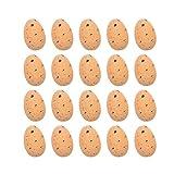 lcybem 10/20 piezas de espuma de simulación de huevos de Pascua regalos de Pascua brillantes decoraciones de Pascua para el hogar fiesta de vacaciones (naranja, 20 unidades)