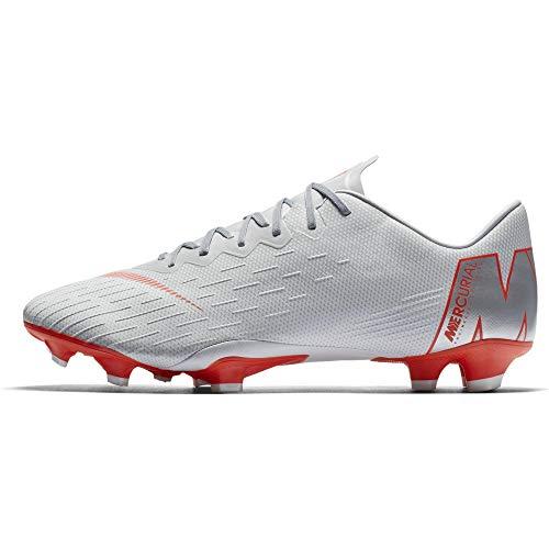 Nike Herren Mercurial Superfly VI Pro FG Sneakers, Mehrfarbig (Wolf Grey/Lt Crimson/Pure Platinum 001), 43 EU