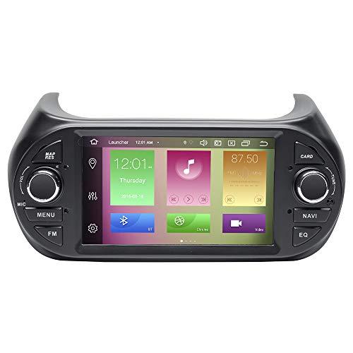 Per Fiat Fiorino Qubo Citroen Nemo Peugeot Bipper 7'Autoradio Stereo GPS Navigazione 2 Din Android 10.0 Octa Core 4GB RAM 64GB ROM Supporto Car Auto Play/TPMS/OBD / 4G WiFi/DAB