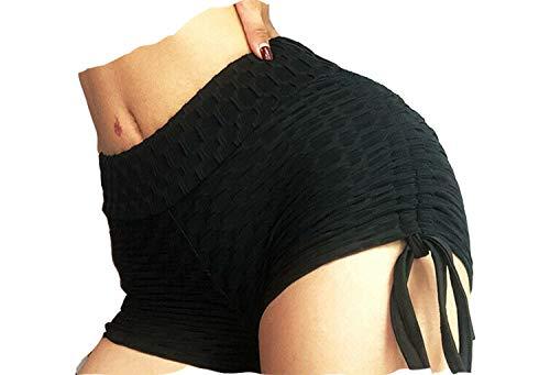 Mesnove 2019 Anti-Cellulite Compression Leggings Shorts (White, S)