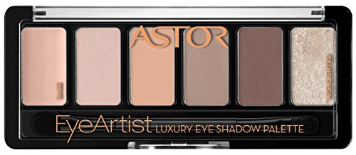 Astor EyeArtist Luxury Eye Shadow Palette, 100 Cosy Nude, 1er Pack (1 x 6 g)