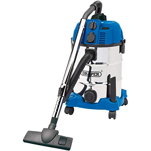Draper 20529 Wet and Dry 1600W Vacuum Cleaner with 30 Litre Stainless...