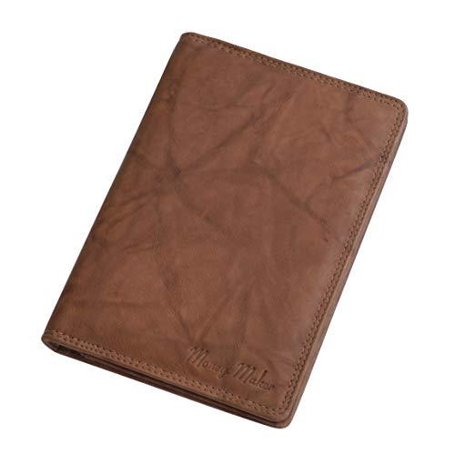 Money Maker - Wild Things Only - Leder Dokumentenmappe Ausweismappe Kartenmappe Reisepasshülle in versch. Farben - präsentiert von ZMOKA® (Tan)