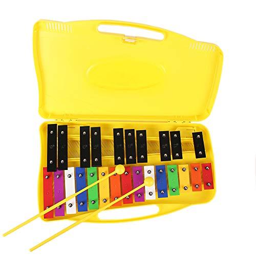 Ennbom 鉄琴 カラフル 25音 オルフ楽器 スタンド付き(ブラック)