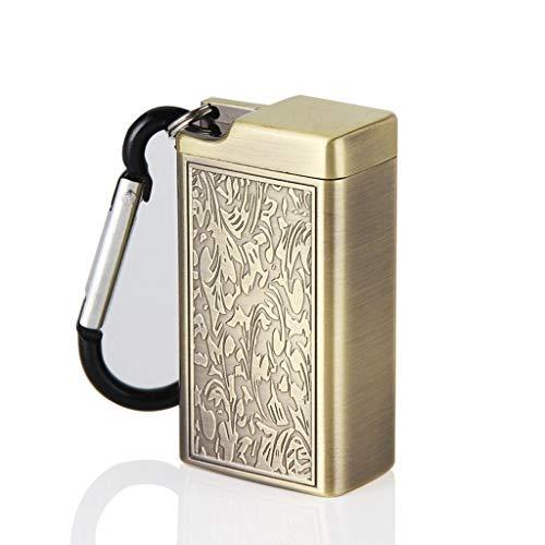 MissLi Cenicero Mini Cenicero portátil Llavero para Exteriores Soporte de Bolsillo de Metal Artesanía de decoración del hogar (Color : C)