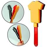 elasto 10er-Set Fanartikel Hand-Klapper Trikot im Trikotstil Deutschlandfarben