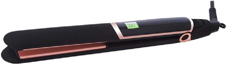 Plancha de Pelo Profesional Plancha de pelo de cerámica infrarroja de doble propósito con rollo recto LCD Cerámica Avanzada con Perla Plancha de pelo Plancha de Pelo,Digital, Keratina