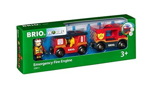 BRIO Bahn 33811 - Feuerwehr-Leiterfahrzeug mit Licht & Sound