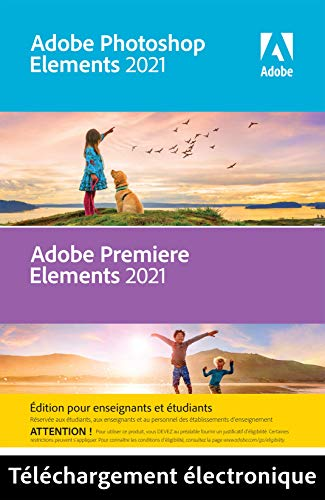 Adobe Photoshop & Premiere Elements 2021 | Student & Teacher Edition | 1 Usuario | PC | Código de activación PC enviado por email