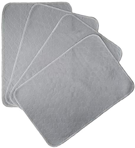 Kluein Pet Training Pads for Dogs | 4-Pack Grey 24x36in | Non-Slip Absorbent | Washable Pads for Dogs Cat Rabbit Guinea Pig Small Pets, Travel Carrier, Dog Crate Mat, Food Mat