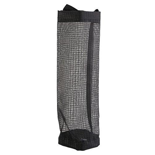 Asixx Dispensador de Bolsas, Tela de Malla de Poliéster,para Guardar Bolsas Plástico de Supermercado Y Almacenamiento O Zapatos(Negro)