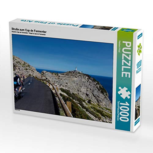 CALVENDO Puzzle Straße zum Cap de Formentor 1000 Teile Lege-Größe 64 x 48 cm Foto-Puzzle Bild von Herbert Poul