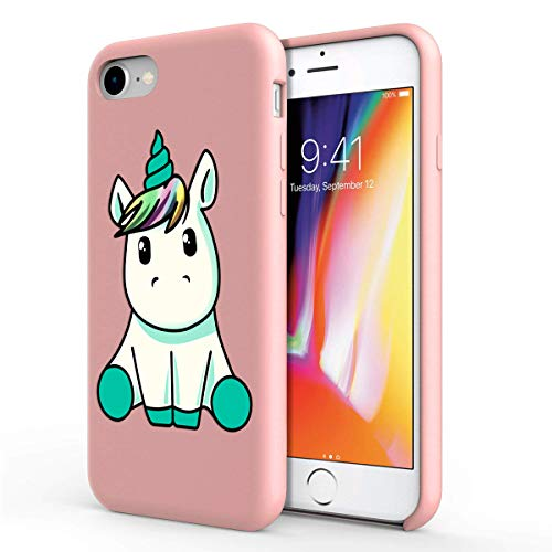 Zhuofan Plus Funda Huawei P9, Silicona Suave Rosada TPU Gel con Diseño Print Pattern Anti-rasguños Shockproof Protactivo Cover para Huawei P9, Unicornio
