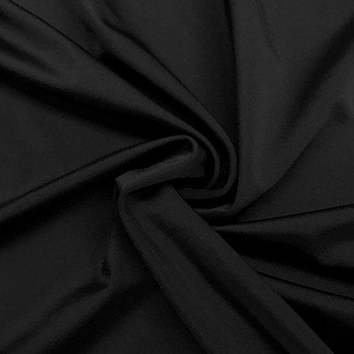 "Lycra Matte Milliskin Nylon Spandex Fabric 4 Way Stretch 58"" Wide Sold by The Yard Many Colors (Black)"