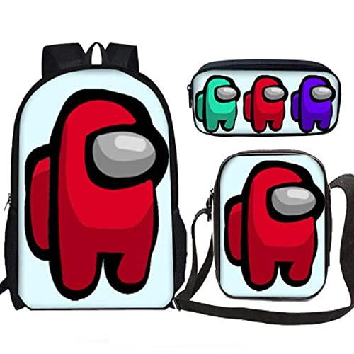 ULPUXMM 1 juego de mochilas de anime con dibujos animados casuales, mochilas escolares unisex regalos