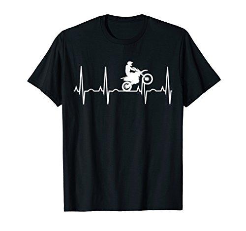 Dirt Bike Heartbeat Shirt - Best Shirt for Dirt Bike Riders