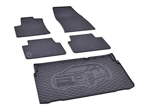 Bac de coffre et tapis de sol en caoutchouc pour Citroën C3 Aircross à partir de 2017
