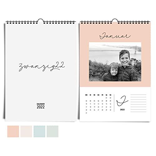heaven+paper A4 Fotokalender 2022 I edler Bastelkalender und moderner Jahreskalender in sanften Farben zum selbstgestalten, basteln & verschenken…