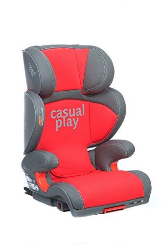 Casualplay Polaris Fix - Silla de coche, grupo 2/3, color rojo