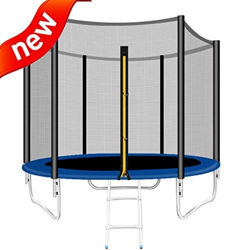 Trampolines Trampolín De Interior Para Niños. Rebounder Del Parque De Atracciones Para Adultos Trampolín Comercial Grande Cama Elástica Con Red Protectora, 8FT ( Color : Black , Size : 2.44m*2m )