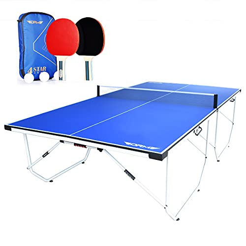 DRM 9FT Professional Portable Table Tennis Table Indoor Outdoor Table...
