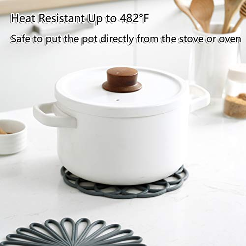 Product Image 4: Set of 3 Silicone Trivet Mat – Hot Pot Holder Hot Pads for Table & Countertop – Trivet for Hot Dishes – Non-Slip & Heat Resistant Modern Kitchen Hot Pads for Pots & Pans,Merlot Red