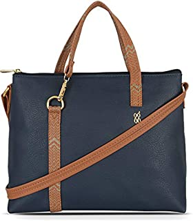 Baggit Women's Synthetic Tote Bag (Blue)